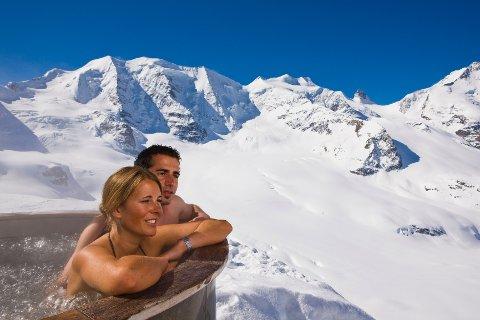 Sveits har flere kurbadsteder med ganske spektakulære omgivelser.