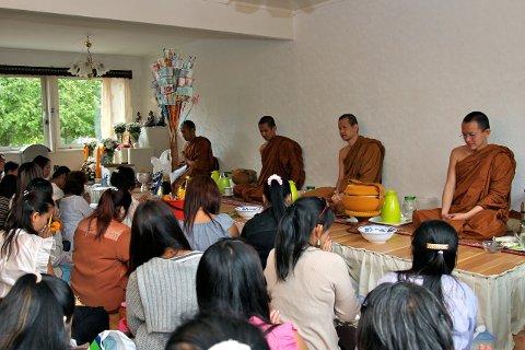 Det thailandske buddhistiske tempelet i moss ble innviet på lørdag.