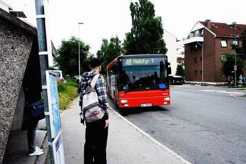 Nå blir det rushtidsbuss fra Leirskallen, over Lambertseter og til Oslo Sentrum. Bussen vil hete 4E - ikke 4B som på bildet.