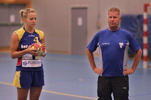 Tatiana Alifanova og Kai Frydenlund-Holm er klare for sesongens første seriekamp på hjemmebane.