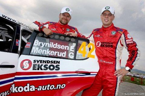 Cato menkerud (til venstre) og Eyvind Brynildsen er klare for Rally Frankrike.