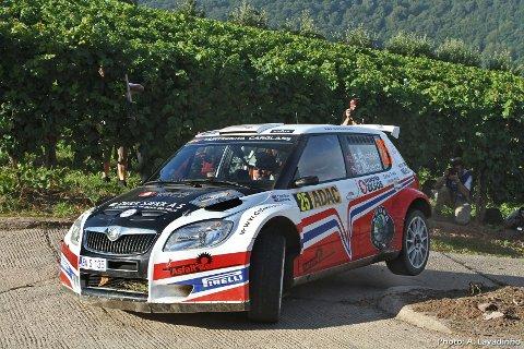 Eyvind Brynildsen (22) og kartleser Cato Menkerud fra KNA Varna stiller til start i Rally Frankrike til helgen