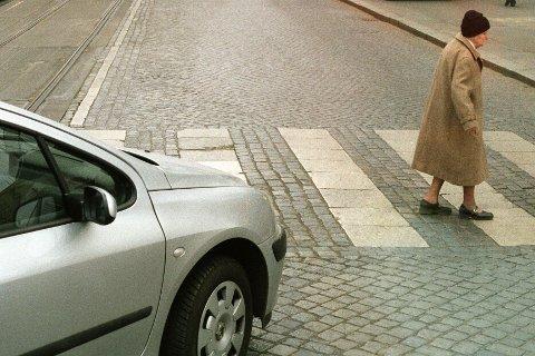 9922e5f6 Eldre over 64 år er den aldersgruppen som er mest utsatt i trafikken.