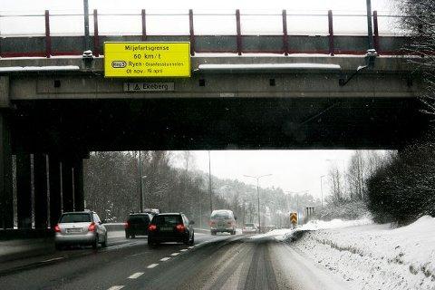 Fra mandag er det igjen klart for noen måneder med lavere fart på E6/Store Ringvei og Trondheimsveien.