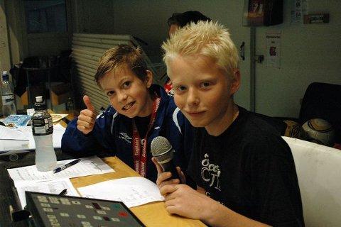 Sekretariatet Emil (t.v.) og Jonas hadde full kontroll på kampene