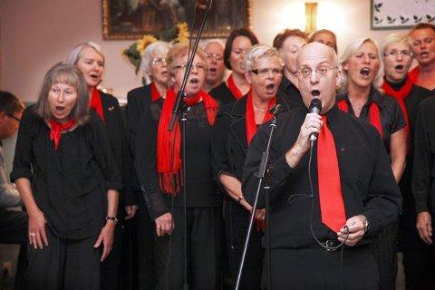 Gospelkoret Gregos skal varme opp for Angels in Harlem Gospel Choire i Kolben kulturhus lørdag 11. desember. FOTO: BJØRN SANDNESS