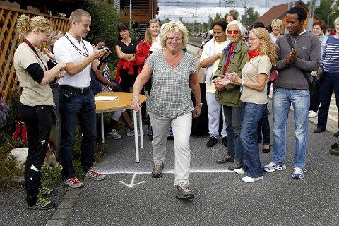 Anne Odenmarck var blant de første som tok utfordringen da den første gåtesten ble arrangert i september. 19. mai får hun svar på om formen er blitt bedre. FOTO: BJØRN V. SANDNESS