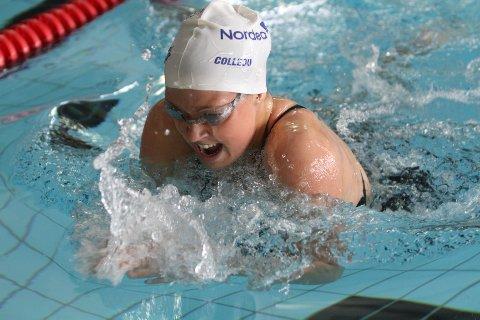 Fosser inn: Stina Kajsa Colleou fosser inn til seier på distansen 200 meter fri.