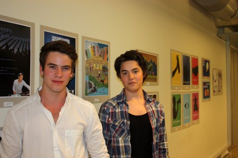 TALENTER: Lucas Brunstein (til venstre) og Bledar Osmani drømmer om å starte egen mediebedrift.