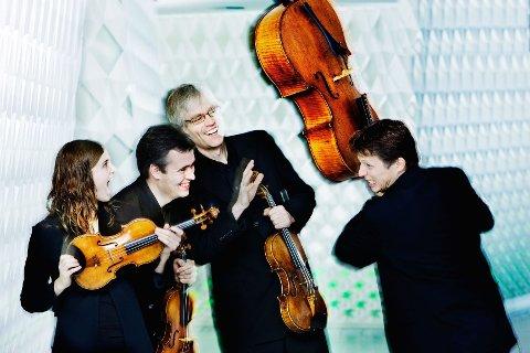 Oslo Strykekvartett gjester Sandefjord kirke med et repertoar som spenner fra W.A. Mozart til Rolf Wallin. Pressefoto: Bo Mathisen