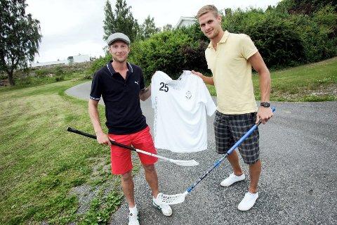 Daniel Baronowsky (t.v.) og Christoffer Olsen har signert for Øreåsen, og blir viktige innebandybrikker i 1. divisjon.