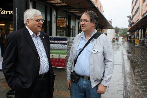 Tariq Shabbaz (AP) og Teddy Kjendlie (H) er BU-lederkandidater for hver sin fløy. Men når de to snakker sammen, viser det seg fort at de er langt mer enige enn uenige.