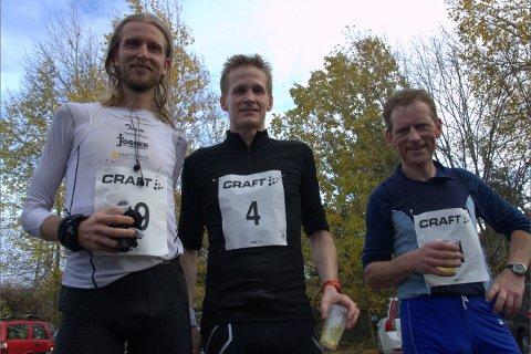 nr 1, 2 og 3 Gjermund Sørstad (til venstre), Leif Welhaven og Jan Halland.
