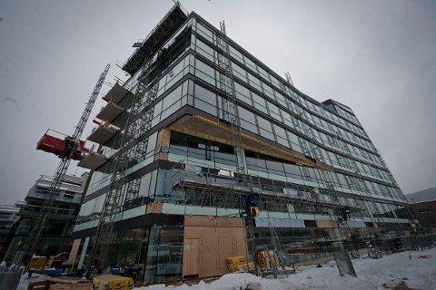MAI. Den ene av to bygninger i Papirbredden 2 skal stå ferdig i mai.