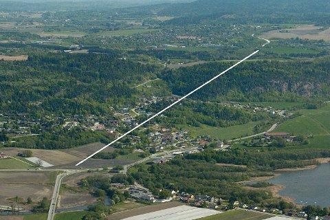 Den nye veien vil gå fra Dagslett til Linnes.