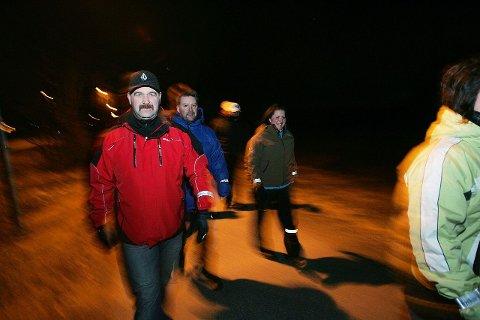 Sosialt: Stig Skjønnås er med på tur nummer to. Han synes det er kjedelig å gå alene og liker det sosiale ved gjengen.