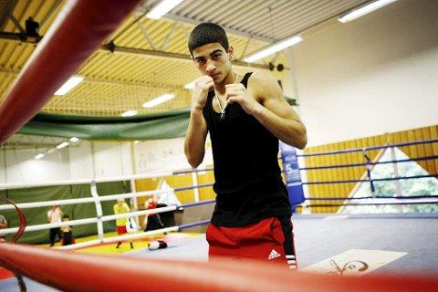TK-bokseren Ali Srour forsvarte sitt nordiske mesterskap i helgen.