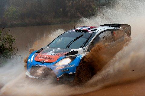 Mads Østberg står som vinner av Rally Portugal.