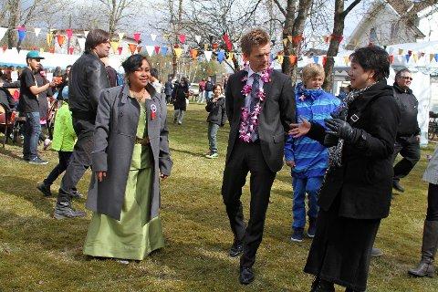 Mosseordfører Tage Pettersen (H) var med på festen.
