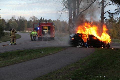 Brannmannskapet fikk raskt kontroll over brannen.