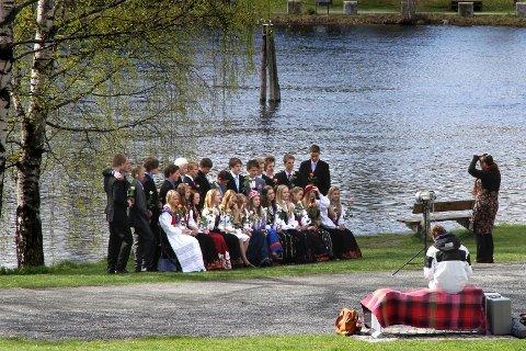Konfirmanter fra den første av i alt tre humanistiske seremonier lørdag. Foto: Lars Bryne