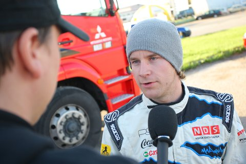 Mads Østberg måtte bryte Rally of Champions i dag.