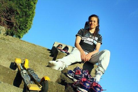 EN SOMMER FYLT MED TRENING: Heidi Weng er på jakt etter verdenstoppen. FOTO: TERJE RUUD