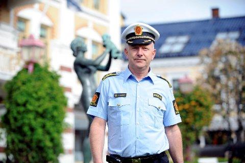 Brian Jacobsen er politistasjonssjef i Sandefjord kommune. Arkivfoto: Per Langevei