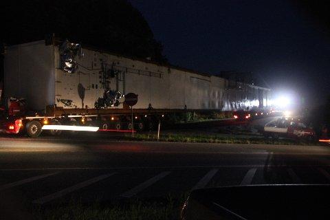 70 meter lang, inkludert trekkvogn, var vogntoget.