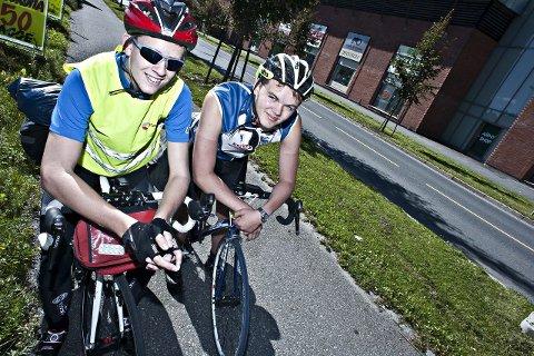 startet med et veddemål: Det var en jente som ikke trodde at vi kunne klare å sykle til Namsos.
