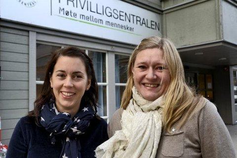 Ingunn Juel Fagermoen i Home-Start (til venstre) og Inger-Marie Solgård i Fredrikstad sentrum Frivilligsentral synes det er viktig å belyse ensomhet i jula.?