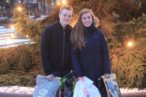 Kjæresteparet Anders Been (18) og Camilla Stormoen (18).