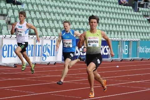 RASKT. Philip Bjørnå Berntsen møter de beste sprinterne fra Sverige og Finland.
