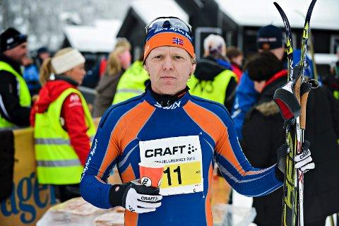 Arne Sand etter målgang