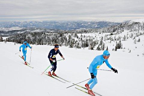 Norefjellrennets topp tre: Espen Harald Bjerke, Roger Aa Djupvik og Daniel Myrmæl Helgestad.