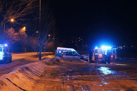 Ulykken skjedde ved Biltema på Ringveien i Tønsberg.