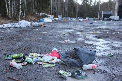 Slik så det ut på Tobonn dagen derpå. Russen opplyser at det vil bli ryddet på stedet i løpet av dagen (tirsdag).