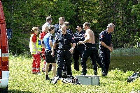 En kvinne ble fredag formiddag funnet i vannet på Konnerud.