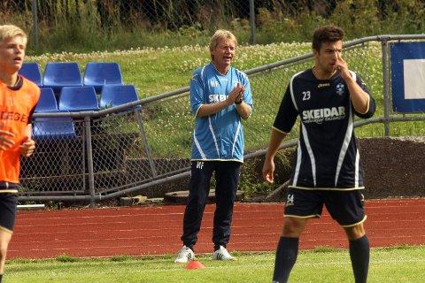 OPPSAGT:  Fjorårets assistenttrener i Follo FK,Michael Frank, er i dag oppsagt fra jobben som hovedtrener i Moss FK.