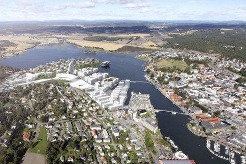 Dette er Asbjørn Abrahamsens visjon for fremtidens Tønsberg. I planen fins det ingen plass for dagens industriarbeidsplasser på Kaldnes.