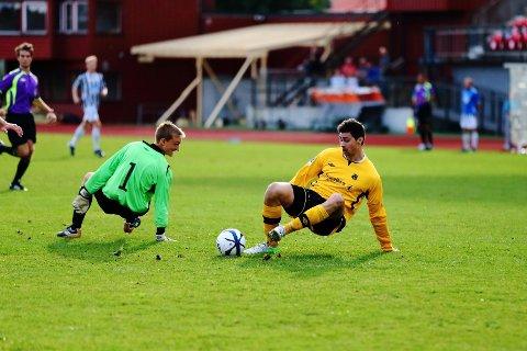 Innbytteren Tim Reinback scoret det avgjørende målet for MFK borte mot VIF II mandag kveld.