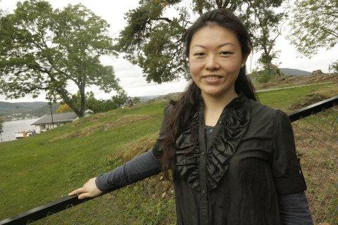 JIe Zhang satte stor pris på å spille i Drøbak. Etter endt konsert så dro hun til med et ekstranummer, til stor glede for publikum.