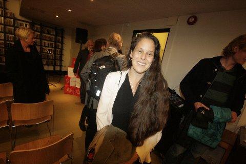 Jessica Marks fra Drøbak akvarium var en av initiativtagerene til denne paneldebatten under årets forskningsdager.