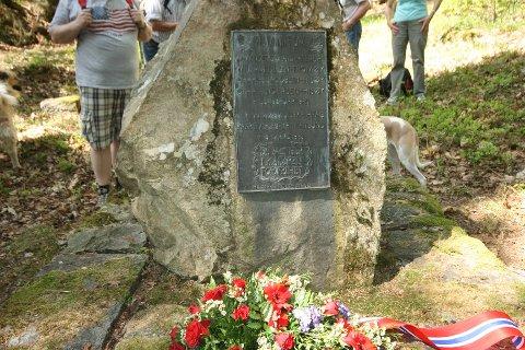 Minnesmerke over de som ble henrettet på Håøya under andre verdenskrig.