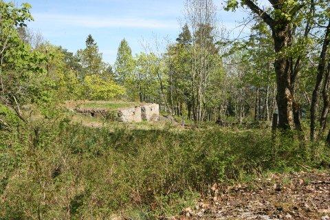 Grunnmuren etter huset oppsynsmann Svendsen bodde i.