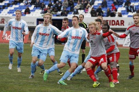 Follo FK fikk medhold i sin anke og redusert straff. Her fra kampen mot Strømmen i forrige serierunde.