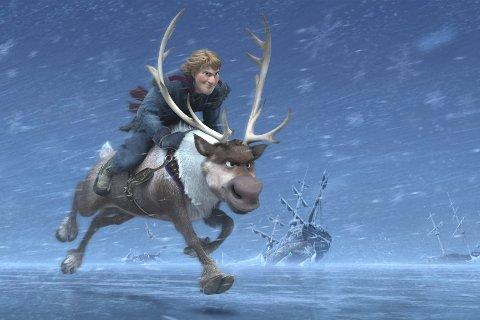 FROST: Figuren Kristoff og reinsdyret Sven fra Disneys nyeste film Frost.
