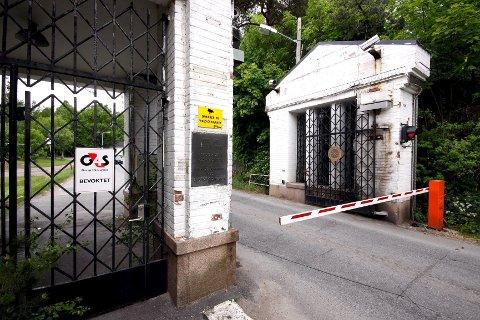Inngangspartiet til den gamle dynamittfabrikken på Engene.