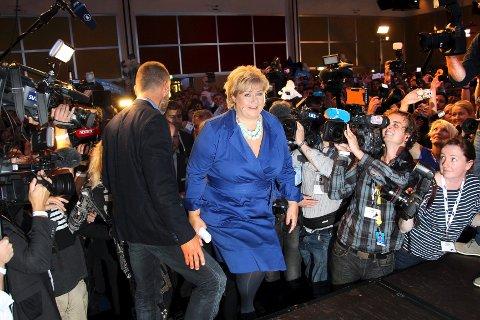 Arkivfoto fra valgnatten 2013. Foto: Bjørn Sandness