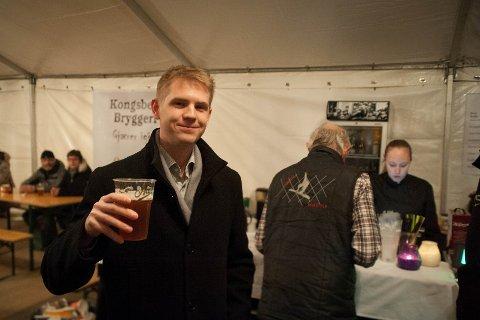 Vinneren: Kjetil A Sørgarden vant jazzklassen med et india pale ale brygget av han og en venn.
